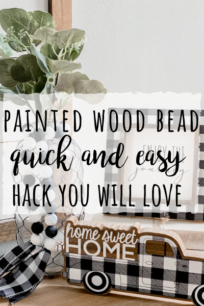 Painted wood bead hack- so quick and easy, your mind will be blown!