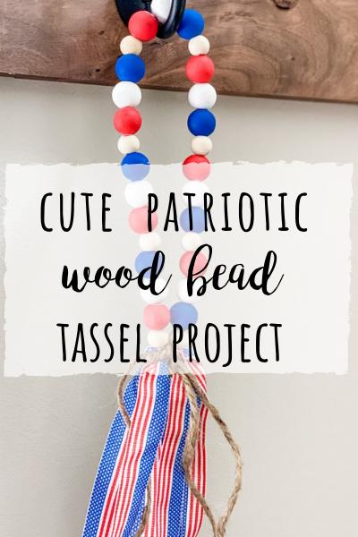 Patriotic wood bead tassel project