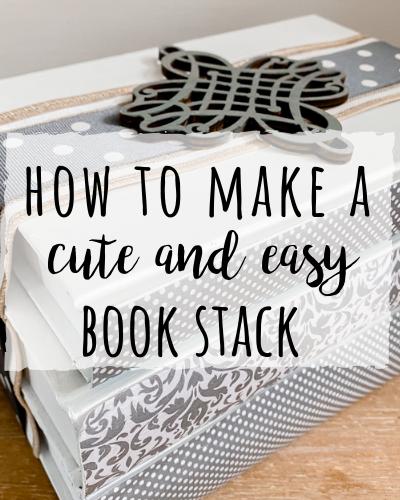 Painted book stack DIY