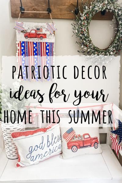 Patriotic decor ideas for Summer!