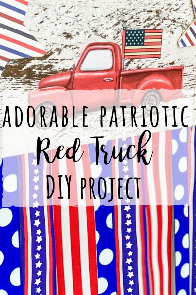 Patriotic red truck DIY with truck printable