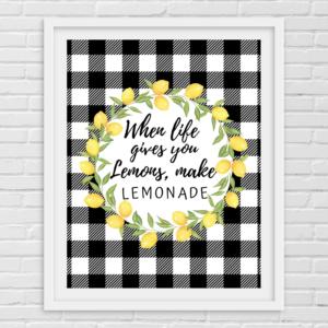 Printable- Lemon- Make lemonade