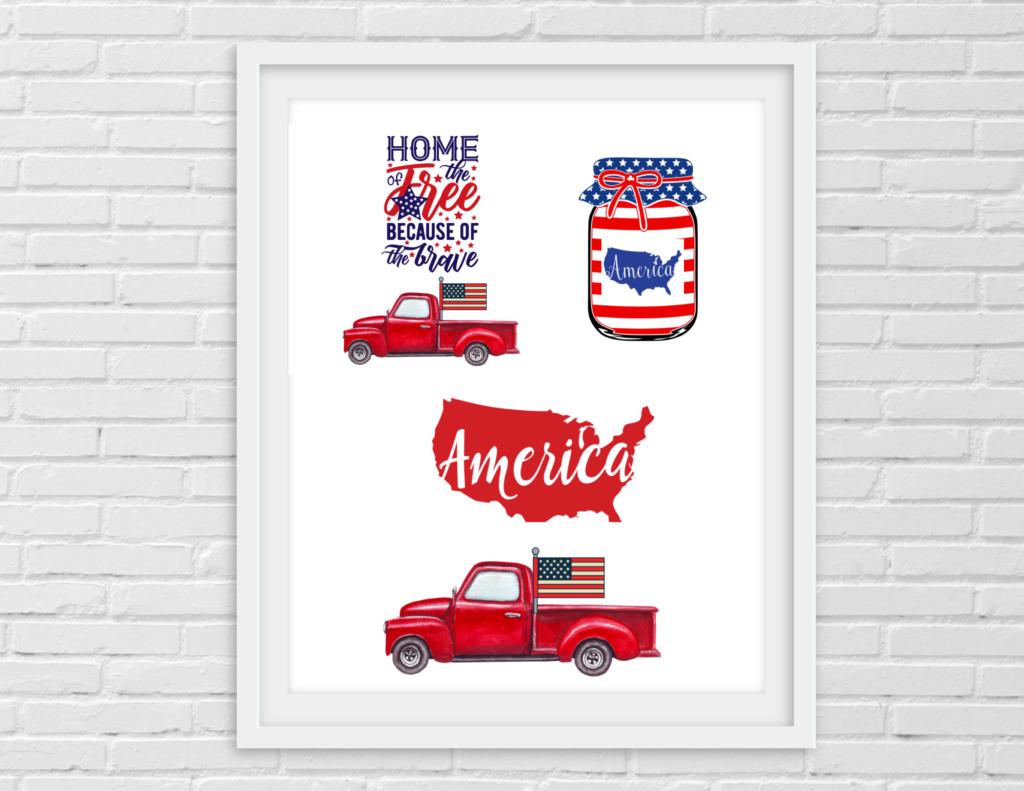 Printable- Patriotic- Crafters bundle
