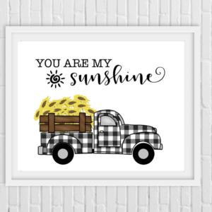 Printable- Sunflower truck pic