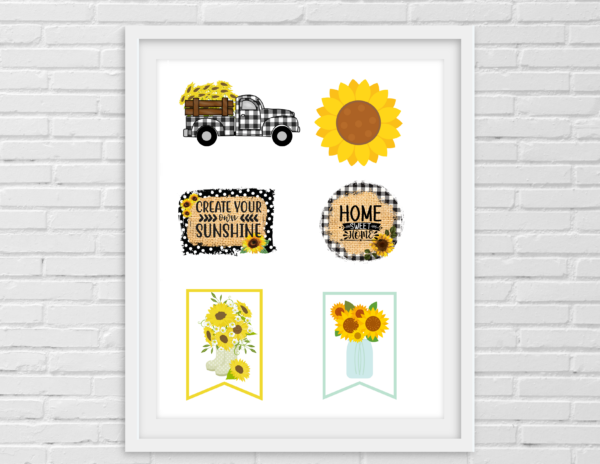 Printable- sunflower crafters bundle pic