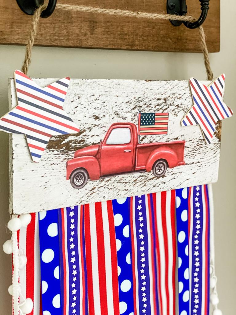 Patriotic red truck DIY