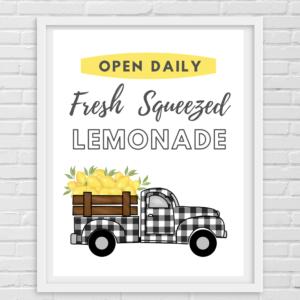 Printable- Buffalo check and lemon truck