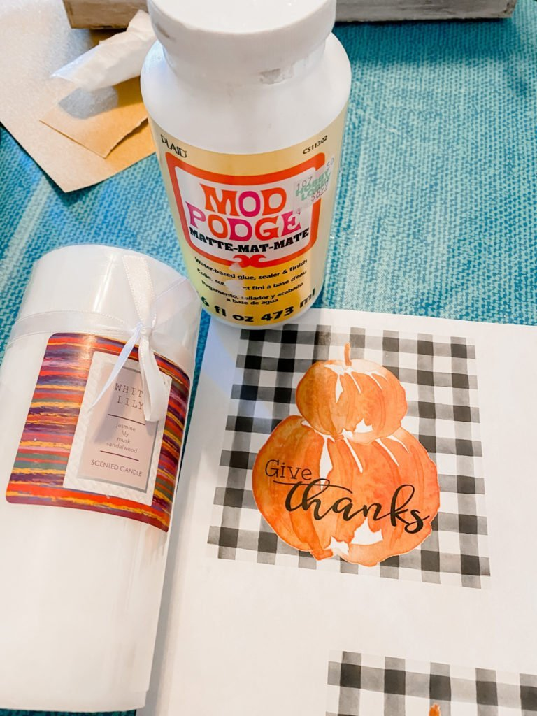 DIY candle upcycle with a printable!