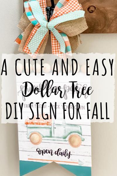 DIY Dollar Tree sign using a printable!