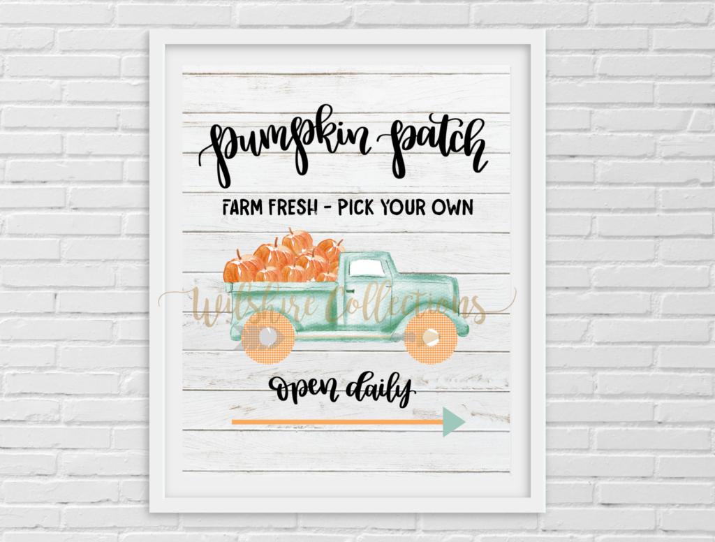Fall- Aqua truck- Pumpkin Patch