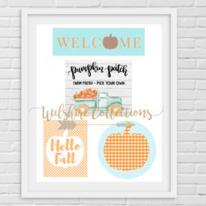 Fall- aqua and orange crafters bundle pic