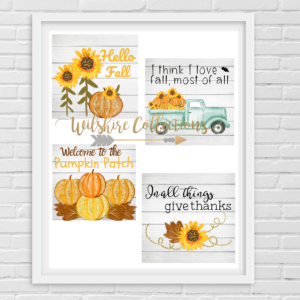 Printable- fall- sunflower crafters bundle