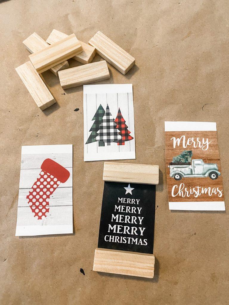 DIY ornaments using printables