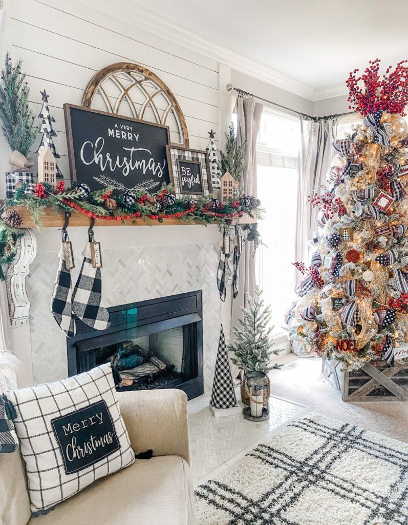 Christmas mantel decor and inspiration