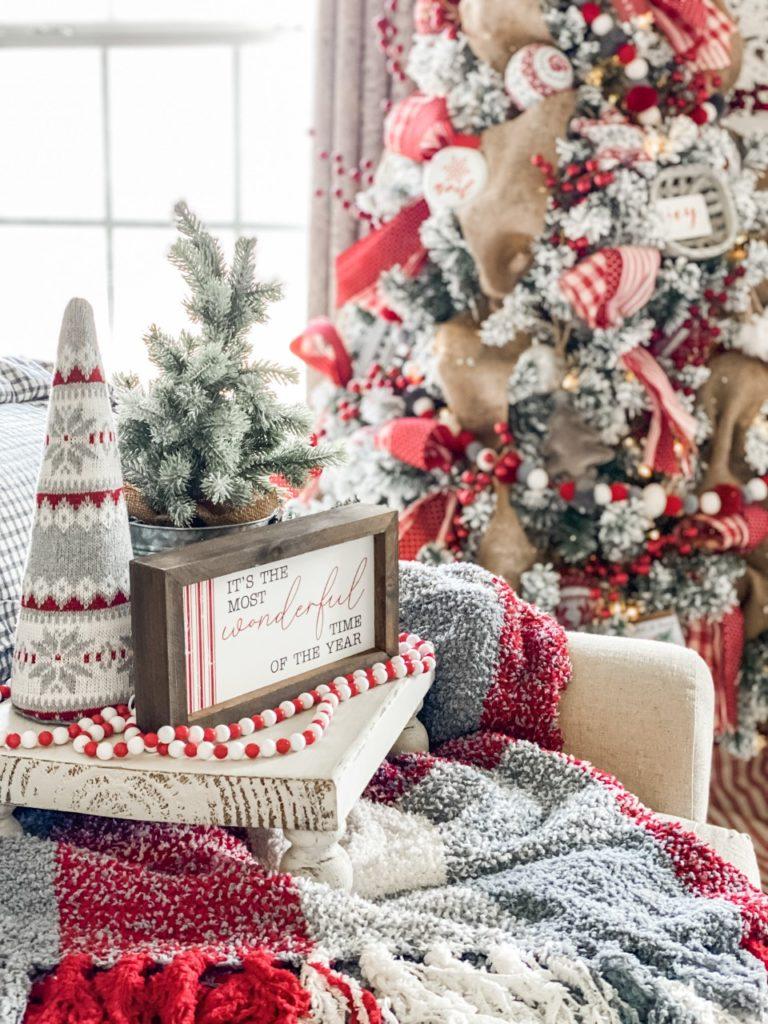 Festive Christmas bedroom decor