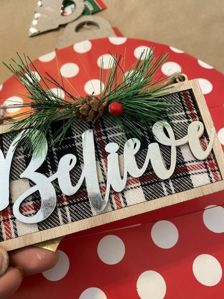 Dollar Tree DIY Christmas ornament
