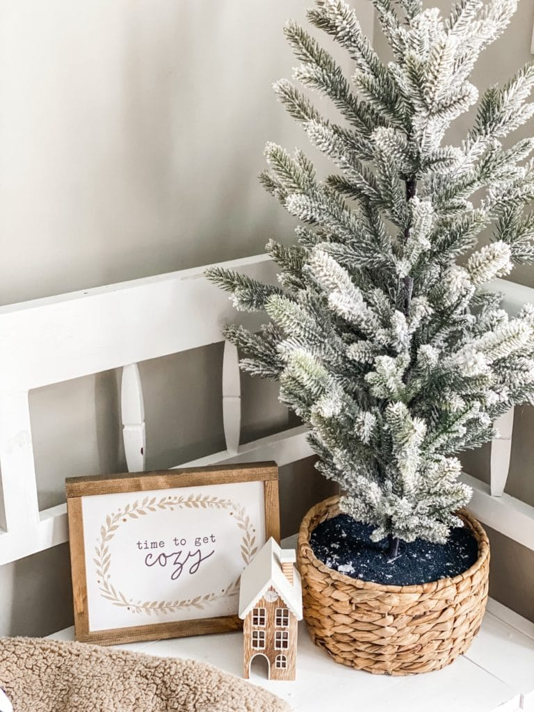 Winter decorating in the entry way