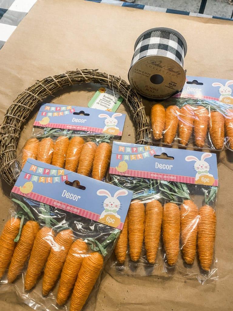 orange carrots for a wreath