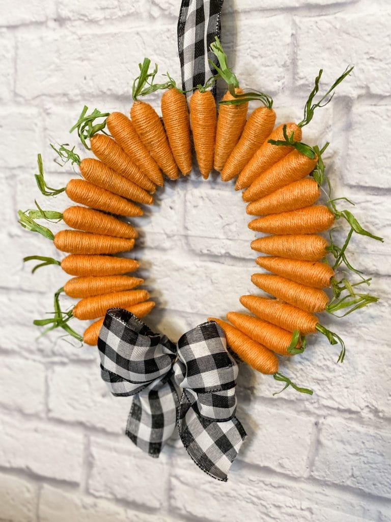 diy spring carrot wreath