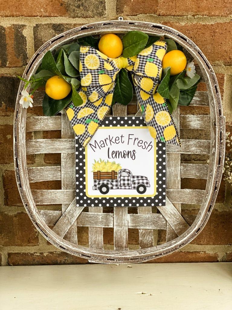 DIY lemon inspired tobacco basket