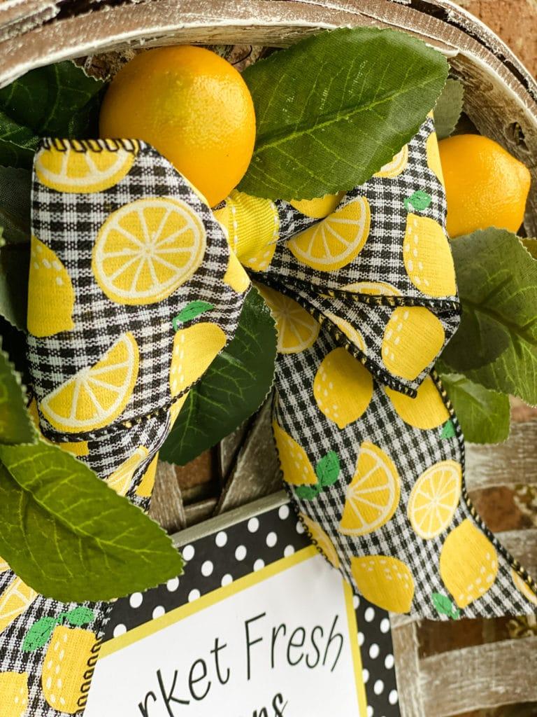 DIY lemon inspired project
