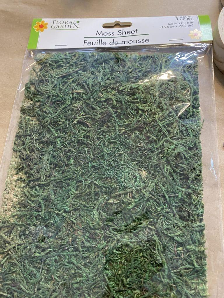 sheet moss for diy