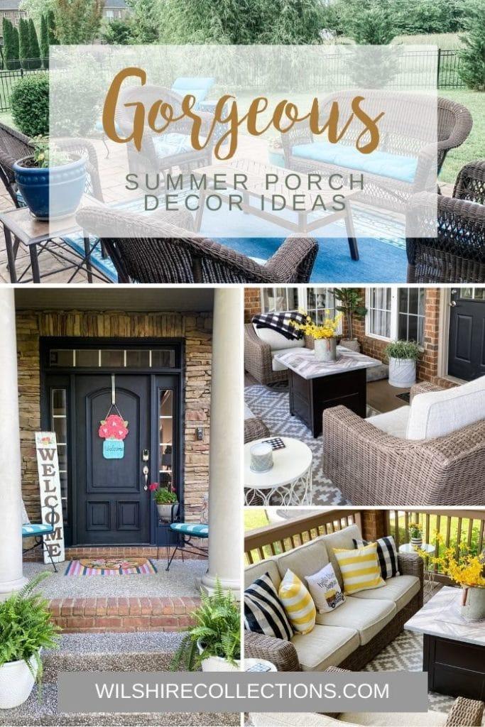 summer porch and patio ideas