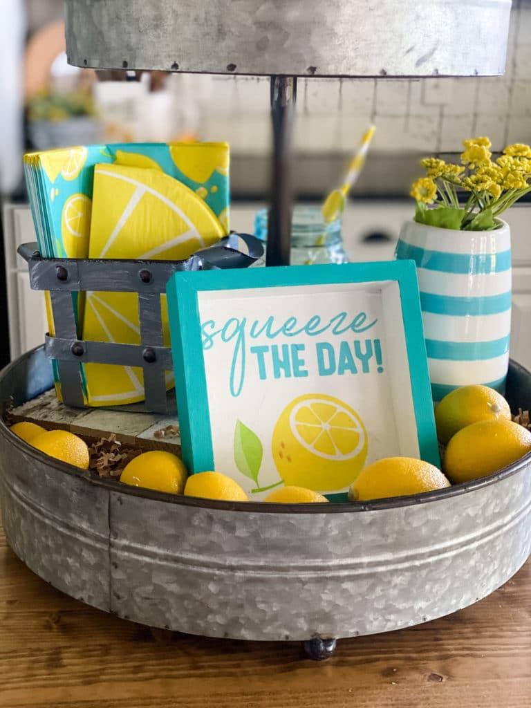 lemon tiered tray