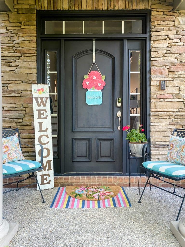 welcome front door decor