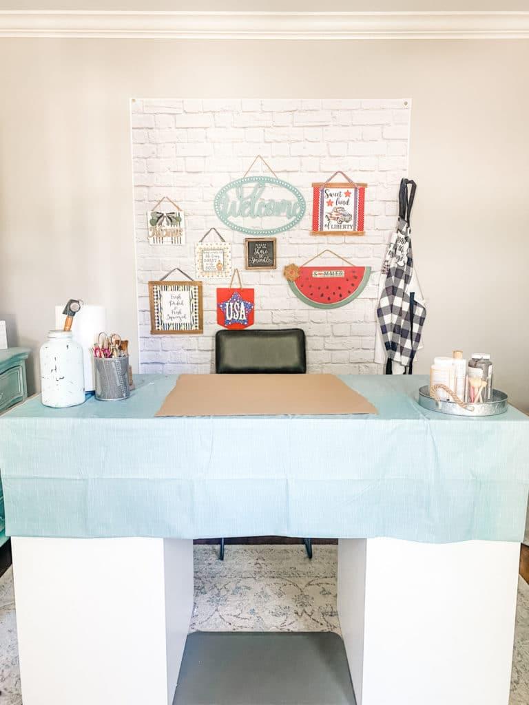 craft room wall