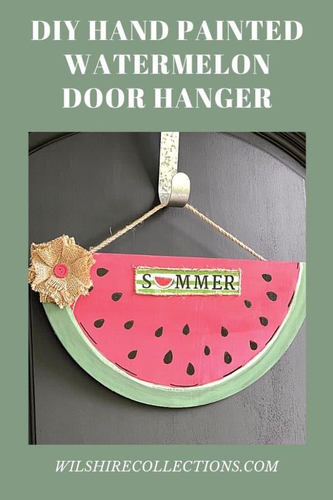 summer watermelon sign on black door