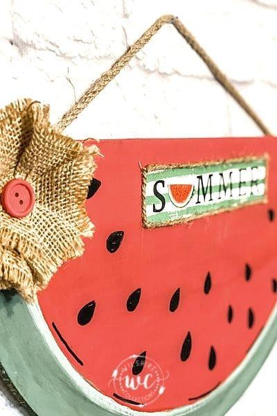 Hand painted Watermelon Door Hanger