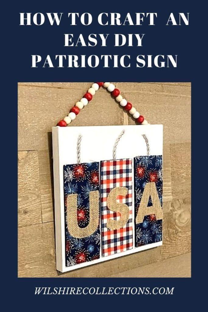 DIY Patriotic Sign