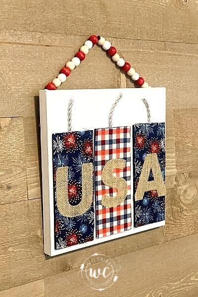 USA Firework wall decor