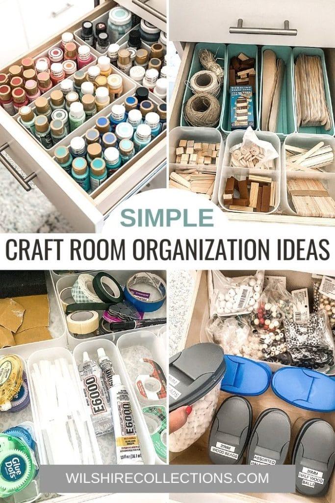 Simple Craft Room Organization Ideas