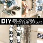 DIY Buffalo Check Wood Bead Garland