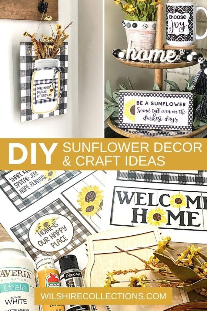DIY Sunflower Decor and Craft Ideas