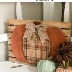 DIY Wood Pumpkin Craft
