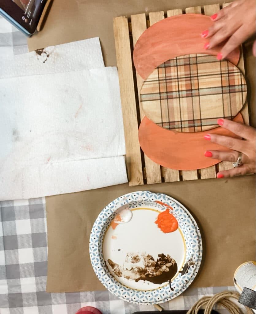 DIY wood pumpkin