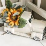 sunflower truck decor